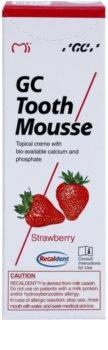 GC Tooth Mousse Strawberry реминализиращ защитен крем за чувствителни зъби без флуорид