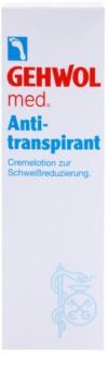 Gehwol Med Antitranspirant-Creme zur Verminderung der Schweißbildung für Füssen