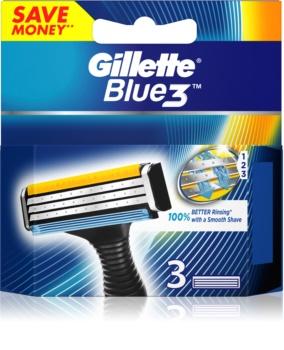 Gillette Blue 3 zapasowe ostrza 3 szt.