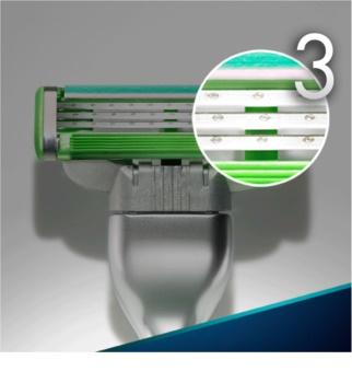 Gillette Mach 3 Sensitive náhradné žiletky 4 ks