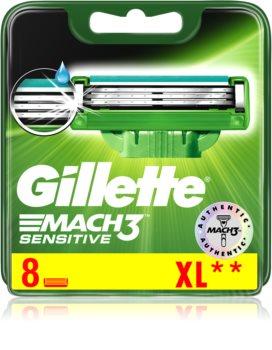Gillette Mach 3 Sensitive nadomestne britvice 8 ks