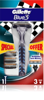 Gillette Blue 3 rasoir + lames de rechange 3 pièces