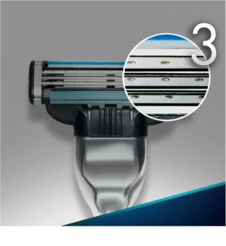 Gillette Mach 3 máquina de barbear + refil de 3 lâminas