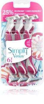 Gillette Venus Simply 3 Plus brivnik za enkratno uporabo 6 ks
