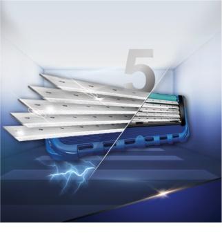 Gillette Fusion Proglide lote cosmético XI.
