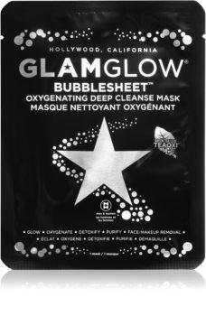 Glam Glow Bubblesheet oczyszczają maska w płacie z węglem aktywnymc rozjaśniający