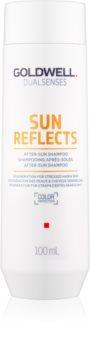Goldwell Dualsenses Sun Reflects Reinigend en Voedend Shampoo  voor Belast Haar door de Zon