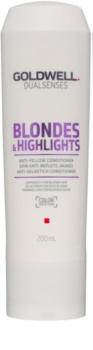 Goldwell Dualsenses Blondes & Highlights acondicionador para cabello rubio neutralizante para tonos amarillos
