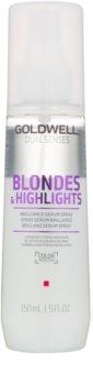 Goldwell Dualsenses Blondes & Highlights leöblítést nem igénylő szérum spray formában a szőke és melírozott hajra