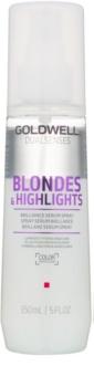 Goldwell Dualsenses Blondes & Highlights serum brez spiranja v pršilu za blond lase in lase s prameni