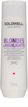 Goldwell Dualsenses Blondes & Highlights champú para cabello rubio neutralizante para tonos amarillos