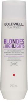 Goldwell Dualsenses Blondes & Highlights šampon za blond lase za nevtralizacijo rumenih odtenkov