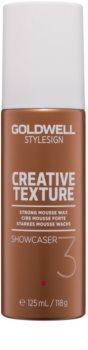 Goldwell StyleSign Creative Texture Showcaser 3 cera em mousse para cabelo