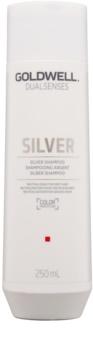 Goldwell Dualsenses Silver neutralizujúci strieborný šampón  pre blond a šedivé vlasy