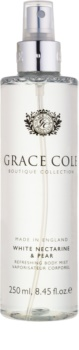 Grace Cole Boutique White Nectarine & Pear освежаващ спрей за тяло