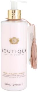 Grace Cole Boutique Vanilla Blush & Peony zjemňující krém na ruce a nehty