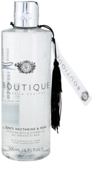 Grace Cole Boutique White Nectarine & Pear zklidňující koupelový a sprchový gel
