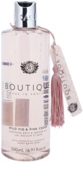 Grace Cole Boutique Wild Fig & Pink Cedar zklidňující koupelový a sprchový gel