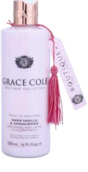 Grace Cole Boutique Warm Vanilla & Sandalwood vlažilni losjon za telo