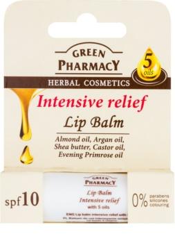 Green Pharmacy Lip Care intensives Feuchtigkeit spendendes Lippenbalsam SPF 10