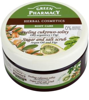 Green Pharmacy Body Care Argan Oil & Figs exfoliante a base de azúcar y sal