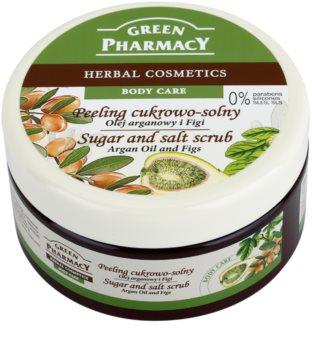 Green Pharmacy Body Care Argan Oil & Figs peeling cu zahar si sare