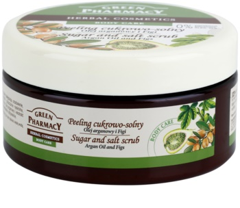 Green Pharmacy Body Care Argan Oil & Figs cukrovo-solný peeling