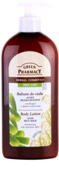 Green Pharmacy Body Care Aloe & Rice Milk lotiune de corp hidratanta cu efect de nutritiv