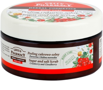 Green Pharmacy Body Care Cranberry & Cloudberry peeling de açúcar - sal