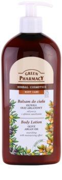 Green Pharmacy Body Care Olive & Argan Oil leite corporal nutritivo com efeito hidratante
