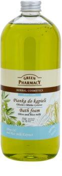 Green Pharmacy Body Care Olive & Rice Milk пінка для ванни