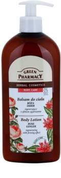 Green Pharmacy Body Care Rose & Ginger Regenerating Body Milk with Firming Effect