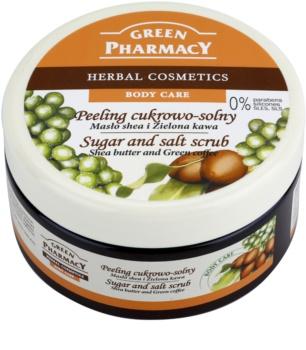 Green Pharmacy Body Care Shea Butter & Green Coffee cukrovo-solný peeling