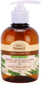 Green Pharmacy Face Care Aloe gel detergente delicato per pelli sensibili e secche