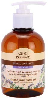 Green Pharmacy Face Care Sage Gel de limpeza suave para a pele propensa a irritação