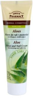 Green Pharmacy Hand Care Aloe feuchtigkeitsspendende Creme für zarte Haut für Hände und Fingernägel