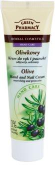 Green Pharmacy Hand Care Olive creme nutritivo e protetor para mãos e unhas