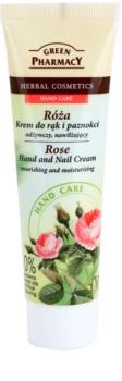 Green Pharmacy Hand Care Rose nährende und feuchtigkeitsspendende Creme für Hände und Fingernägel