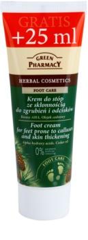 Green Pharmacy Foot Care crema para pies contra callos y durezas