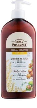 Green Pharmacy Body Care Oat & Macadamia Oil leche corporal calmante e hidratante