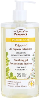 Green Pharmacy Pharma Care Oak Bark Chamomile gel apaziguador para higiene íntima