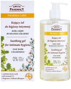 Green Pharmacy Pharma Care Oak Bark Chamomile zklidňující gel na intimní hygienu
