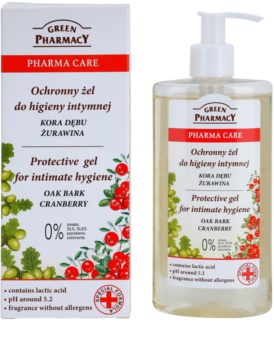 Green Pharmacy Pharma Care Oak Bark Cranberry gel protecteur pour la toilette intime