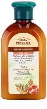 Green Pharmacy Hair Care Argan Oil & Pomegranate balsam pentru par uscat si deteriorat