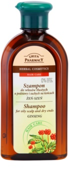 Green Pharmacy Hair Care Ginseng šampon za mastno lasišče in suhe konice las