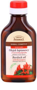Green Pharmacy Hair Care Red Peppers lopuchový olej pre stimuláciu rastu vlasov