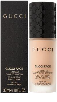 Gucci Face Lustrous Glow Foundation tekoči puder za posvetlitev kože SPF 25