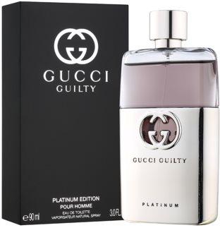 Gucci Guilty Platinum Pour Homme Eau de Toilette for Men 90 ml
