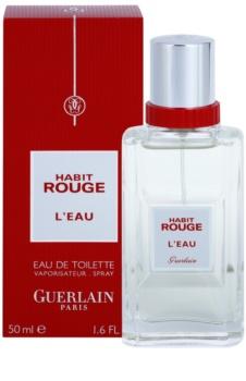 Guerlain Habit Rouge L'Eau toaletní voda pro muže 50 ml
