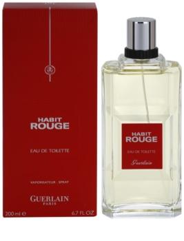 Guerlain Habit Rouge eau de toilette para homens 200 ml